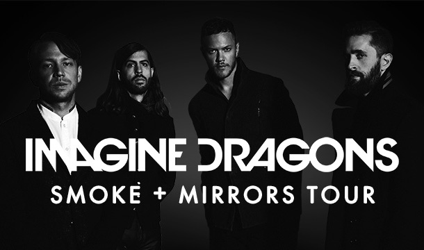 Постер концерта Imagine Dragons в Москве 2016